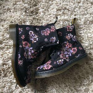 Floral Doc Marten Beckett Canvas Combat Boots